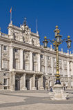 Palacio verdadero en Madrid Foto de archivo libre de regalías