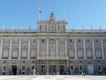 Palacio verdadero en Madrid, España Fotografía de archivo