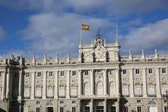 Palacio Verklig de Madrid Arkivbilder
