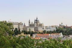 Palacio Verklig de Madrid Arkivfoto
