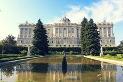 Palacio verklig eller kunglig slott Royaltyfria Foton
