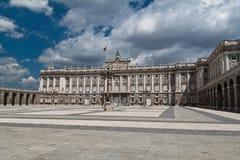 palacio verkliga spain för de madrid Arkivbild