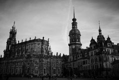 Palacio y capilla de Justicia de Dresden Foto de archivo