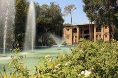 Palacio y el jardín, Irán de Hasht Behesht Foto de archivo libre de regalías