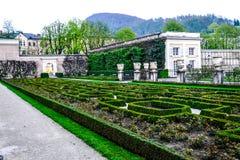 Palacio y jardín de Mirabell Fotos de archivo