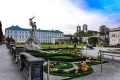 Palacio y jardín de Mirabell Fotografía de archivo libre de regalías