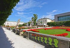 Palacio y jardín de Mirabell en Salzburg Imágenes de archivo libres de regalías