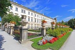 Palacio y jardín de Mirabell en Salzburg Imagen de archivo libre de regalías