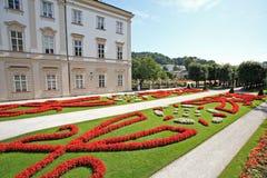 Palacio y jardín de Mirabell en Salzburg Foto de archivo libre de regalías