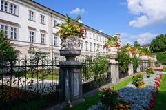 Palacio y jardín - Salzburg, Austria de Mirabell Imágenes de archivo libres de regalías