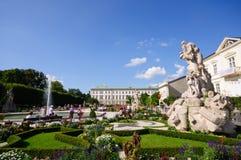 Palacio y jardín - Salzburg, Austria de Mirabell Fotografía de archivo libre de regalías
