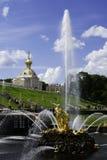 Palacio y jardines de Peterhof Imagen de archivo