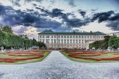 Palacio y jardines Salzburg de Mirabell Fotografía de archivo