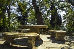 Palacio y parque, Crimea de Livadia Fotografía de archivo