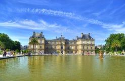 Palacio y parque, París, Francia de Luxemburgo Foto de archivo libre de regalías