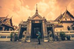 Palacio y templo magníficos de Emerald Buddha fotografía de archivo