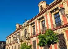 Palacioen Arzobispal i Seville - Spanien, Andalusia royaltyfria foton