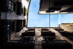 Palacios de Barcelona de la parte inferior Foto de archivo libre de regalías