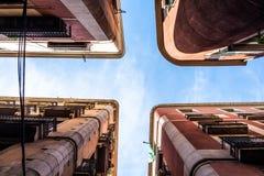Palacios de Barcelona de la parte inferior Fotos de archivo libres de regalías
