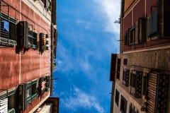 Palacios de Barcelona de la parte inferior Fotografía de archivo libre de regalías