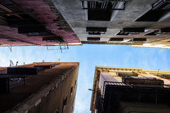 Palacios de Barcelona de la parte inferior Imágenes de archivo libres de regalías