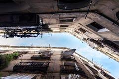 Palacios de Barcelona de la parte inferior Foto de archivo