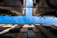Palacios de Barcelona de la parte inferior Fotos de archivo