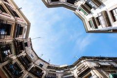 Palacios de Barcelona de la parte inferior Imagen de archivo libre de regalías
