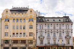 Palacios de la plaza principal de Bratislava Imagen de archivo libre de regalías