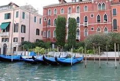 Palacios en el canal magnífico. Imagen de archivo