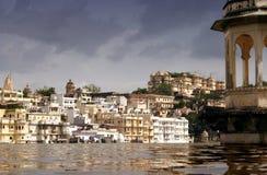 Palacios en Udaipur Imagen de archivo