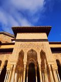 Palacios Nazaries in Granada, Spain. Patio de los Leones in Palacios Nazaries of Alhambra in Granada, Andalusia, Spain Royalty Free Stock Image