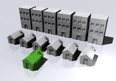 Palacios y eco-hogares Imagenes de archivo
