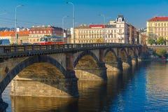 Palacky Bridge in Prague (Czech Republic) stock images