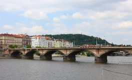 Palacky Bridge, Prague, Czech Republic. The Palacky Bridge 1876 is a bridge in Prague. It is one of the oldest functioning bridges over the Vltava in Prague Royalty Free Stock Photography