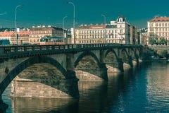 Palacky Bridge in Prague, Czech Republic Royalty Free Stock Photo