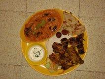 Paladar de la comida de Mughal Imagenes de archivo