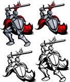 paladin för riddarelogomaskot royaltyfri illustrationer