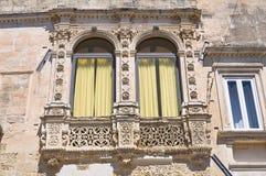 Paladini Palace. Lecce. Puglia. Italy. stock images