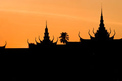 Palae royal, Pnom Penh, Cambodge. Image stock