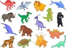 Palaeosaurus, styracosaurus, spinosaurus, ichthyosaur, diplodocu ilustración del vector