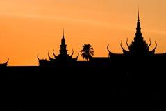 柬埔寨palae皇家penh的pnom 库存图片