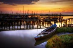Palaffite Kanal stockfoto