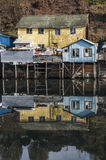 Palafito houses above the water in Castro, Chiloe, Chile Stock Image