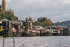 Palafitos σε Castro, νησί Chiloe στη Χιλή στοκ φωτογραφίες