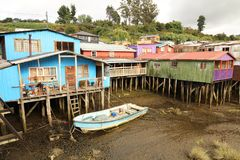 Palafitos in Castro, Chili Royalty-vrije Stock Afbeeldingen
