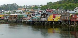 Palafitos in Castro, Chiloe Island Stock Photos