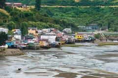 Palafitos in Chiloe lizenzfreie stockbilder