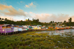 Palafitos in Chiloe Royalty Free Stock Photography