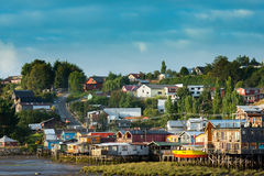 Palafitos in Chiloe Stock Images